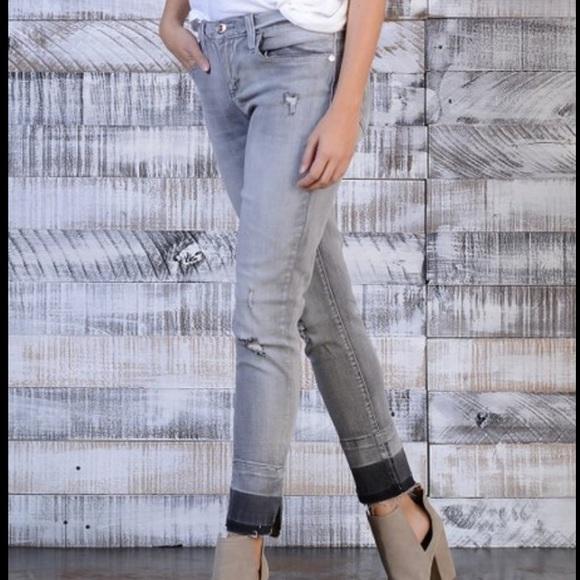 Seven7 Denim - Seven7 gray distressed skinny ankle jeans